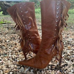 Guess Stiletto Boots with Fringe